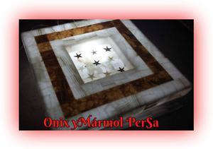 mesa de centro en onix
