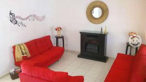 Sala 3 piezas color rojo