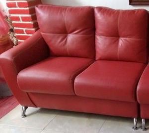 Sala Moderna Color Rojo Tipo Esquinera
