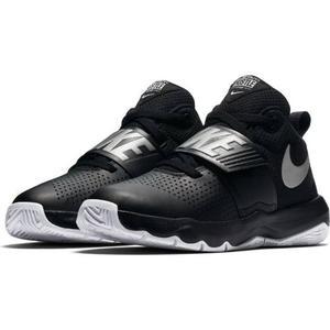 Tenis Nike Team Hustle 8 Negro/plata Niño 100% Original