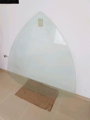 vidrio templado para mesa triangular