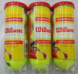 Jgo De 3 Botes De Pelotas De Tenis,marca Wilson,presurizadas