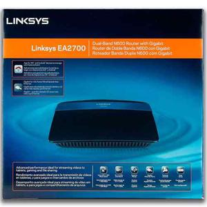 Router Linksys Ea Wi-fi N600 Doble Banda 2.4ghz Y 5ghz