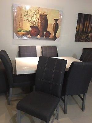 Comedor marmolina 6 sillas