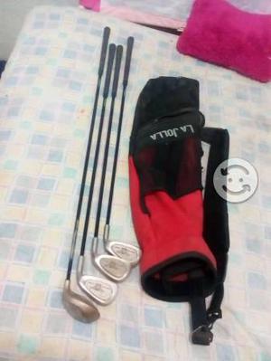Set de 4 palos para golf junior marca LA JOLLA