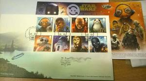 3 Sets de Estampillas Star Wars FDC-Royal Mail´17