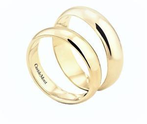 Argollas De Matrimonio Oro Amarillo 10k Anillos Boda 4mm Par