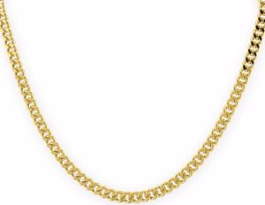 Cadena Barbada De Oro Macizo 14k 55cm. Pesa 15grs Solid Gold