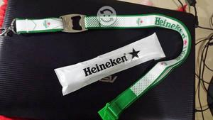 Correa porta gafet con destapador Heineken
