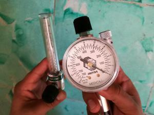 Flujometro para oxígeno y de vacío