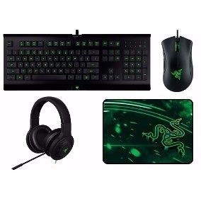 Kit Razer Gaming Teclado Mat Diadema Mouse Gamer