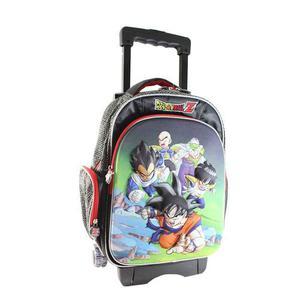 Mochila 3d Escolar Niño Carrito Ruedas Dragon Ball c