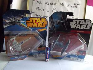 Coleccion 4 Naves Star Wars Halcon Milenario Hot Wheels