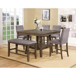 Comedor 6 sillas y 1 banca mesa de cristal para | Posot Class - photo#6