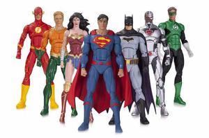 Dc Icons Liga De La Justicia Set De Colección 7 Figuras