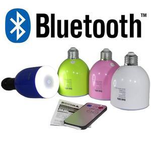 Foco Bocina Bluetooth 6w Lampara Led Con Control Remoto