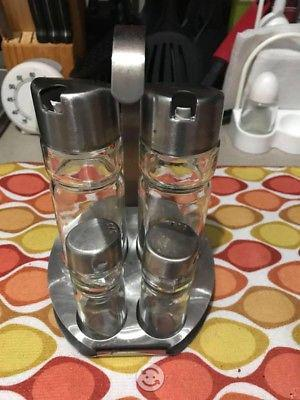 Kit de cocina para aceite sal y pimienta