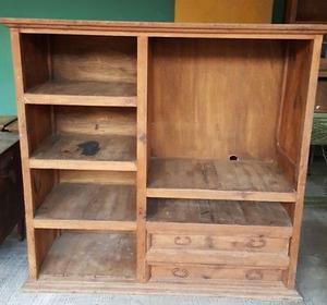 Mueble TV o librero de Madera de Estilo Rustico