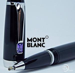 Pluma Montblanc Boheme Black Silver/cristal Violeta + Envio