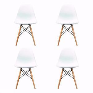 Silla Eames-set 4 Sillas Blanco/negro! Increíble Promo!!!