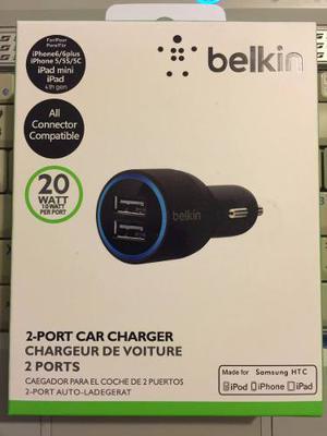 Belkin Cargador De Auto Doble Usb Samsung Iphone Htc