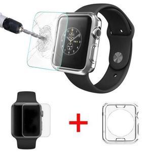 Protector Flexible + Cristal Templado Apple Watch 42mm 38mm