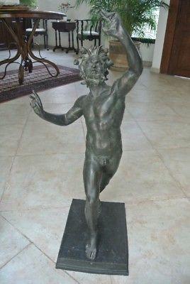 Fauno de Pompeya en bronce