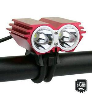 Lampara Luz Frontal Bicicleta Led Recargable Manubrio
