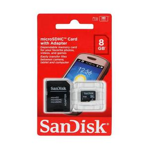 Tarjeta De Memoria Micro Sd Hc 8gb C4 Sandisk Con Adaptador