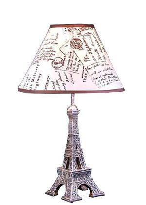 2 Lámparas Diseño Torre Eiffel París Juego Lamparas De