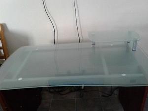 APROVECHE Bonito escritorio con cubierta de cristal