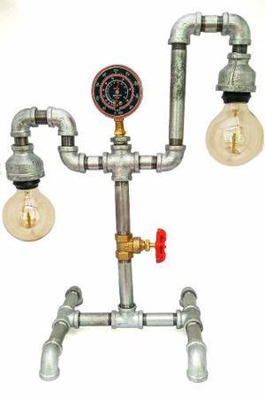 Lámpara Vintage Industrial/ Tubo/ Steampunk Foco Gratis