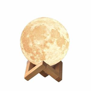 Moonlight Luna 3d Lampara Con Luz Led Y Dimmer 7 Colores 8cm