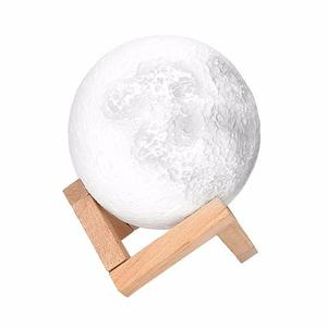 Moonlight Luna 3d Lampara Con Luz Led Y Dimmer 7colores 12cm