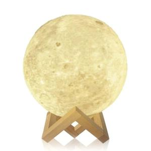 Moonlight Luna 3d Lampara Con Luz Led Y Dimmer Colores 15 Cm