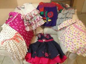 Lote de vestidos de niña en buenas condiciones tallas 3-6