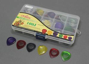 Paquete Con 100 Puas Para Guitarra O Bajo Alice Con Estuche