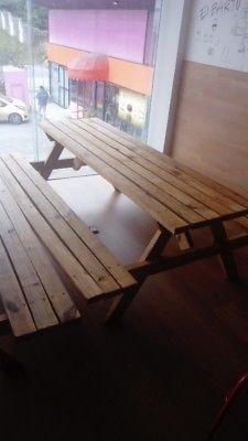 Remato lote de mesas picnic de madera