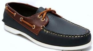 Zapato De Piel Top Sailer Modelo 102 Marino / Red Brown