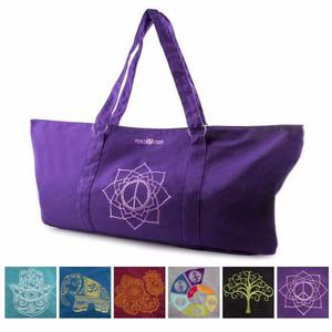 Bolsa Para Mat De Yoga * Peace Yoga * Flor Púrpura