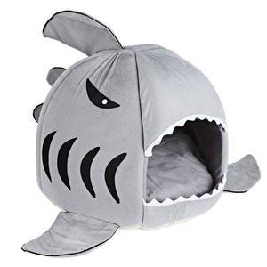 Suave Tibur¿n Forma De Boca De La Caseta De Perro Mascota D