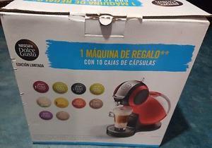 Cafetera Melody Roja Nescafé Dolce Gusto Más 10 Cajas Con