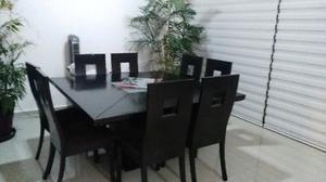 Comedor de Caoba 8 sillas