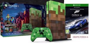 Consola Xbox One S 1tb Minecraft Y Forza 6 Nueva Y Sellada