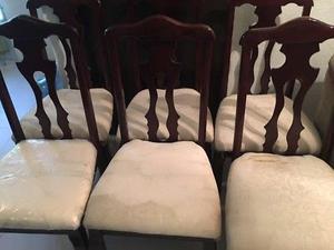 Juego de 6 sillas de madera