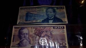 4 billetes antiguos