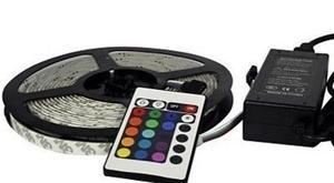 Kit Tira Led RGB 5m SMD  Leds Para Interior incluye