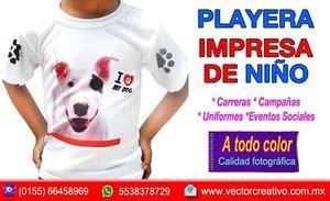 PLAYERA DE ADULTO Y NIÑO IMPRESA
