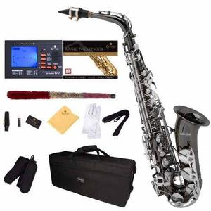 Saxofón Alto E Flat Kit Mendini Tuner Mouthpiece Case Gris