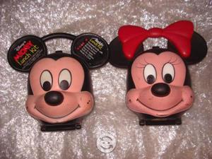 Loncheras de Mickey Mouse y Mimi Antiguas